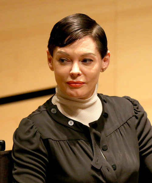 Rose McGowan Short Side Part [hairstyle,chin,forehead,official,white-collar worker,rose mcgowan,nyff live,new york city,elinor bunin munroe film center,nyff]