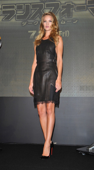 Leather and Lace: Rosie Huntington-Whiteley Is Saucy in ... Rosie Huntington Whiteley Clothing