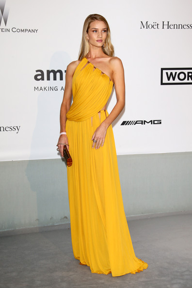 Rosie Huntington-Whiteley One Shoulder Dress