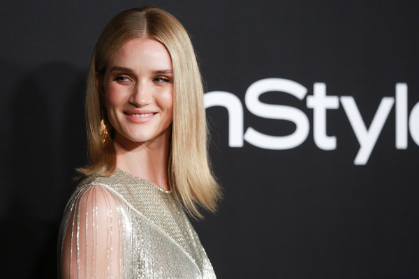 Rosie Huntington-Whiteley Flip [hair,face,blond,hairstyle,beauty,eyebrow,skin,fashion,cheek,smile,arrivals,rosie huntington-whiteley,instyle awards,the getty center,los angeles,california]