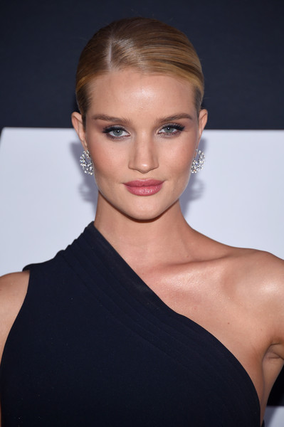 Rosie Huntington-Whiteley Classic Bun [the fate of the furious,hair,face,hairstyle,eyebrow,shoulder,blond,beauty,lip,skin,chin,emma heming,new york city,radio city music hall,new york premiere]