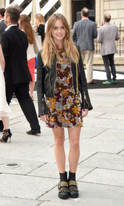 For her footwear, Cressida Bonas chose a pair of funky studded boots.