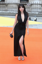 Daisy Lowe continued the sexy vibe with a pair of strappy black heels.