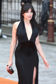 Daisy Lowe matched her dress with a black cocktail ring for the Royal Academy Summer Exhibition.
