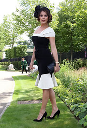 Danielle Bux put her best foot forward at the Royal Ascot in a pair of sleek black pumps.