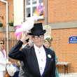David Shilling wears a cockatoo on his top hat