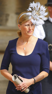 Sophie Countess of Wessex's fascinator was a feathery fashion statement.