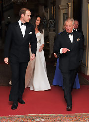 Prince William was perfectly handsome at the wedding reception in a double-breasted tuxedo.