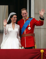 For their world-renowned wedding, Prince William donned a vibrant red classic uniform ensemble.