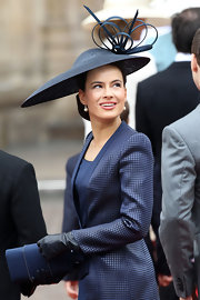 Sophie Winkleman looked like royalty wearing a checkered trench during the Royal Wedding.