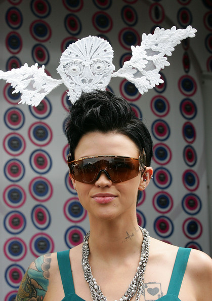 Ruby Rose Fauxhawk [image,eyewear,hair,white,glasses,cool,fashion,sunglasses,headpiece,fashion accessory,headgear,celebrities,marquee,ruby rose,celebrity,photography,model,eyewear,crown oaks,lavazza,orange is the new black,image,celebrity,photograph,break free,getty images,stock photography,photography,model]