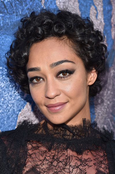 Ruth Negga Short Curls [hair,face,hairstyle,eyebrow,lip,black hair,beauty,chin,forehead,ringlet,red carpet,ruth negga,warcraft,california,hollywood,universal pictures,tcl chinese theatre imax,premiere,premiere]