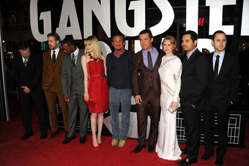 "Ryan Gosling Emma Stone Premiere Of Warner Bros. Pictures' ""Gangster Squad"" - Red Carpet"