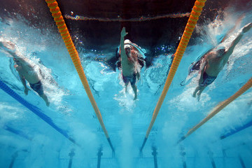 Ryan Lochte Conor Dwyer Swimming - 15th FINA World Championships: Day Ten