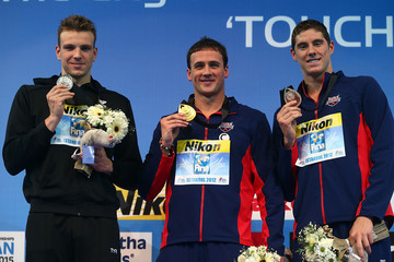 Ryan Lochte Conor Dwyer 11th FINA World Swimming Championships (25m) - Day One