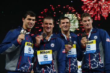 Ryan Lochte Ricky Berens Swimming - 15th FINA World Championships: Day Fourteen