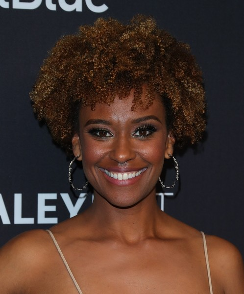 Ryan Michelle Bathe Short Curls [this is us,star trek: discovery,the twilight zone,hair,hairstyle,jheri curl,eyebrow,chin,afro,human,lip,ringlet,black hair,ryan michelle bathe,la,dolby theater,california,paleyfest,paley center for media]