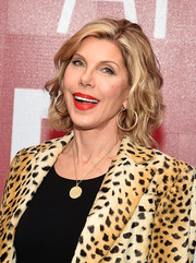 Christine Baranski attended the SAG-AFTRA Foundation Conversations wearing her hair in a short wavy style.