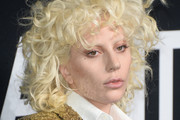 Lady Gaga Medium Curls with Bangs