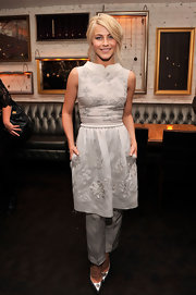 Julianne Hough wore a girly embroidered dress and pant set for the 'Safe Haven' after-party.