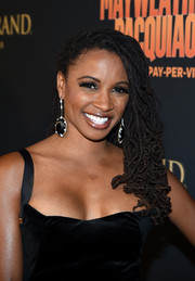 Shanola Hampton looked cool with her coiled dreadlocks at the Mayweather vs. Pacquiao pre-fight party.