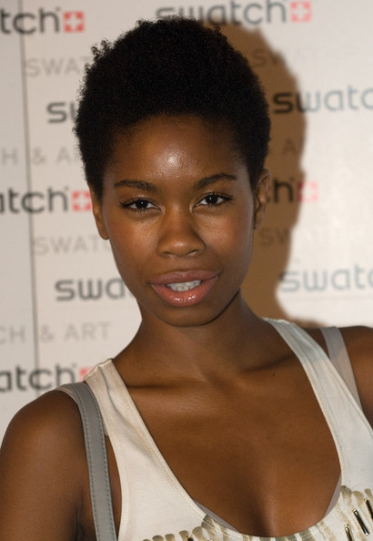 Tolula Adeyemi sported her natural curls at the Swatch & Art collection launch.