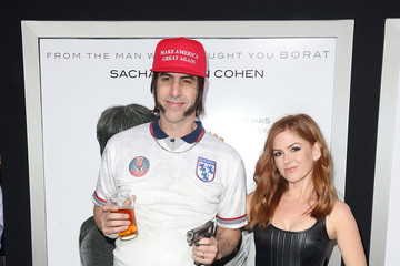 Sacha Baron Cohen Isla Fisher Premiere of 'The Brothers Grimsby' - Arrivals