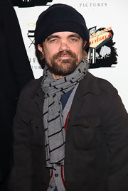 Peter says, yes, a navy blue knit beanie cap is totally appropriate for the red carpet.