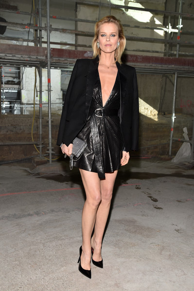 Eva Herzigova at Saint Laurent