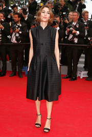 Sofia Coppola donned a textured LBD for the 'Saint Laurent' premiere in Cannes.