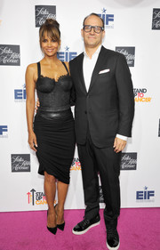 Halle Berry vamped it up in a black corset dress during Saks Fifth Avenue's celebration of Key to the Cure.