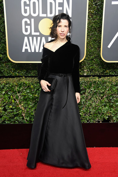 Sally Hawkins Evening Dress [red carpet,clothing,dress,carpet,fashion,premiere,flooring,shoulder,a-line,gown,arrivals,sally hawkins,beverly hills,california,the beverly hilton hotel,golden globe awards,annual golden globe awards]