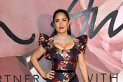 Salma Hayek Embroidered Dress