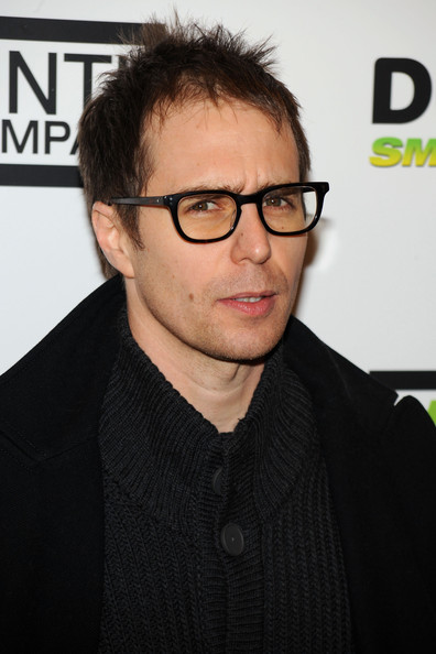 Sam Rockwell Square Sunglasses [eyewear,vision care,glasses,chin,hairstyle,gentleman,cool,white collar worker,formal wear,suit,sam rockwell,gala benefit,new york city,labyrinth theater company,st. paul the apostle church,6th annual gala benefit]