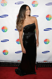 Camila Alves looked glamorous at the Four Seasons of Hope Gala with long ombre hair with loose waves.