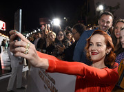 Jena Malone showed off a pair of chunky gold rings by David Webb at the LA premiere of 'The Hunger Games: Mockingjay – Part 1.'