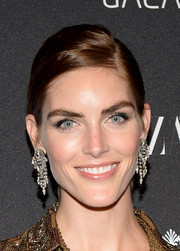 Hilary Rhoda amped up the glamour with a stunning pair of diamond chandelier earrings at the Harper's Bazaar Icons event.