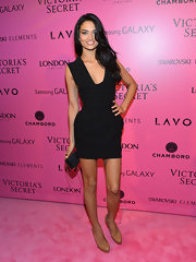 Shanina smoldered in this itsy bitsy LBD at the Victoria's Secret Fashion Show after-party.