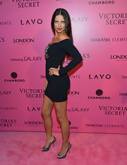 Adriana Lima glistened at the 2012 Victoria's Secret Fashion Show in a glittery pair of slingbacks.
