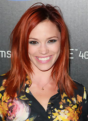Jessica Sutta wore a subtle yet pretty anchor pendant necklace at the product launch of Samsung Infuse 4G.