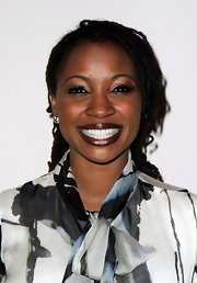 Shanola Hampton wore a deep rich bronze shade of lipstick at the Santa Monica Museum of Art's First Precognito Gala.