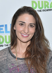 Sara Bareilles wore her long waves down when she visited 'The Elvis Duran Z100 Morning Show.'