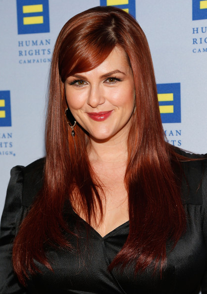 Sara Rue Long Straight Cut with Bangs