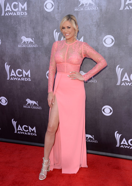 Sarah Davidson Studded Heels [red carpet,clothing,dress,carpet,shoulder,pink,flooring,hairstyle,premiere,joint,arrivals,sarah davidson,las vegas,nevada,mgm grand garden arena,academy of country music awards]