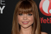 Sarah Hyland Long Straight Cut with Bangs