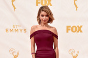 Sarah Hyland Off-the-Shoulder Dress