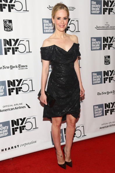 Sarah Paulson Off-the-Shoulder Dress