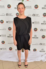 Lili Taylor chose a draped LBD for her classic look at the Sarasota Film Festival.
