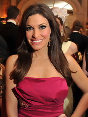 Kimberly Guilfoyle kept her hair down with a side part for the Save Venice event.