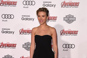 Scarlett Johansson Strapless Dress
